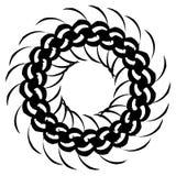 Радиальная серия геометрического элемента Абстрактная черно-белая форма Стоковые Изображения
