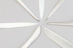 Радиально аранжированные лезвия кухонного ножа стоковые изображения
