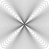 Радиальные линии с влиянием деформации Излучающ передернутую сетку, бесплатная иллюстрация