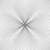 Радиальные линии с влиянием деформации Излучающ передернутую сетку, иллюстрация штока