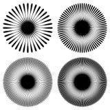 Радиальные линии, лучи, испускают лучи круговая картина Sunburst, starburst Стоковая Фотография