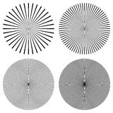 Радиальные линии, лучи, испускают лучи круговая картина Sunburst, starburst Стоковые Изображения RF