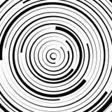 Радиальные концентрические круги с солдатом нерегулярной армии, динамические линии Abstrac Стоковая Фотография