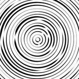 Радиальные концентрические круги с солдатом нерегулярной армии, динамические линии Abstrac Стоковые Изображения RF