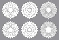 Радиальные элементы контура с передернутая декоративной с неровным ed бесплатная иллюстрация