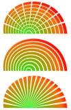 Радиальные элементы с заполнением спектра Комплект 3 циркуляра, semicircl бесплатная иллюстрация