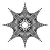 Радиальные элементы с искажением, влиянием деформации Аннотация иллюстрация штока