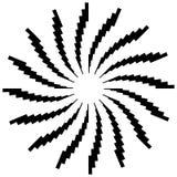 Радиальный круговой элемент Геометрические круги прямоугольников Стоковая Фотография