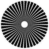 Радиальный круговой элемент Геометрические круги прямоугольников Стоковые Изображения