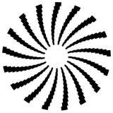 Радиальный круговой элемент Геометрические круги прямоугольников Стоковая Фотография RF