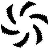 Радиальный круговой элемент Геометрические круги прямоугольников Стоковые Изображения RF