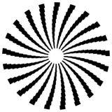 Радиальный круговой элемент Геометрические круги прямоугольников Стоковые Фотографии RF