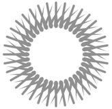 Радиальный, круговой элемент геометрического дизайна стиля Простая мандала иллюстрация вектора