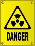 радиоактивный знак Стоковые Фотографии RF