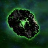 Радиоактивный метеорит Стоковые Фото