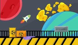 радиоактивный мир Стоковая Фотография RF