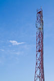 Радиовышка и небо Стоковые Фотографии RF