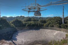 Радиотелескоп обсерватории Аресибо в Пуэрто-Рико Стоковое Изображение