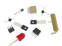 Радиоэлементы IC Стоковая Фотография RF
