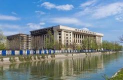 Радио Касы в Бухаресте, Румынии в солнечном дне стоковые изображения rf