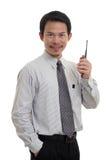 Радио контакта бизнесменов Стоковое Изображение RF