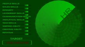 Радиолокатор человеческих ресурсов иллюстрация штока