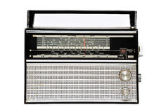 радио 1960s ретро изолированное над белизной Стоковое Изображение RF