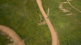 Ралли автомобиля взгляд сверху Стоковое Фото
