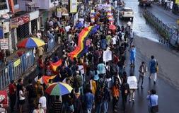 Ралли 2014 гордости радуги Kolkata стоковое изображение rf