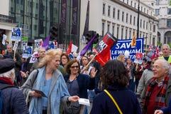 Ралли государственной службы здравоохранения, Лондон Стоковая Фотография RF