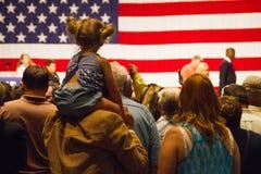 Ралли кампании по выборам президента Дональд Трамп первое в Фениксе Стоковое Фото