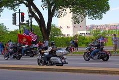 Ралли мотоцикла грома завальцовки Стоковое фото RF