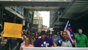 Ралли против партнерства Транс-Тихий Океан (TPP) в Окленде, Новой Зеландии видеоматериал