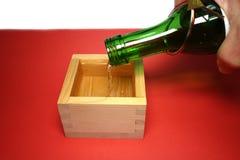 Ради японца священное и деревянная чашка в настроении Нового Года Стоковое Фото