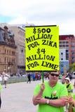 Ралли для осведомленности заболеванием lyme в Оттаве стоковая фотография rf
