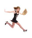 радостная женщина Стоковые Фото