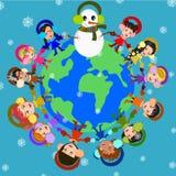 Радостная зима иллюстрация штока