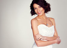 Радостная молодая невеста Стоковое Фото