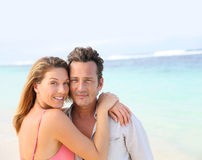 Радостные пары тратя полезного время работы на каникулах Стоковое фото RF