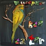 Радостный дето--s мир, мультимедиа, птица, европейский Пчел-едок иллюстрация вектора