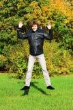 Радостный мальчик Стоковое фото RF