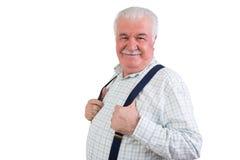 Радостный уверенно пожилой человек стоковые изображения rf