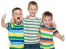 3 радостных мальчика Стоковое фото RF