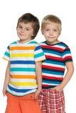 2 радостных мальчика Стоковые Изображения RF