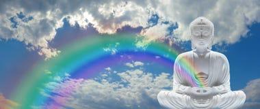 Радуга Будда Mindfulness Стоковое Изображение