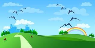 радуга города Стоковые Изображения