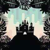 Радуга замка радушная Стоковое Изображение