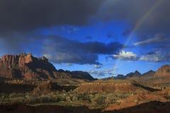Радуга каньона Сиона Стоковая Фотография