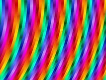 Радуга конспекта искусства цифров Stripes предпосылка Стоковые Изображения