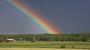радуга конца Стоковые Изображения RF